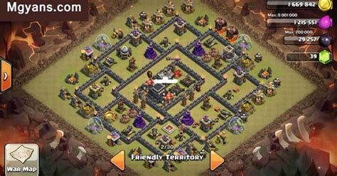 th9 layout december update th9 war base layout 3 deceiving design clash of clans