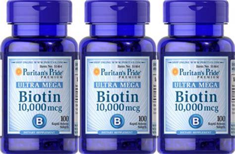 Biotin 10000mcg Puritans Pride biotin 10 000 mcg ultra mega puritans pride 50 softgels usa s 50 00 en mercado libre