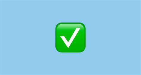 emoji verified white heavy check mark emoji