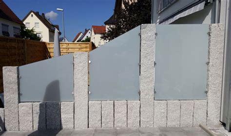 terrasse sichtschutz glas sichtschutz terrasse mit granit und glas