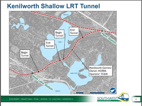 Light Rail Route by Southwest Light Rail Tunnel Option May Advance Weds
