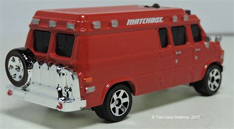 Two Lane Desktop Matchbox Custom 1995 Chevrolet Van Ambulance