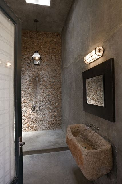 mexico house mediterranean bathroom new york by