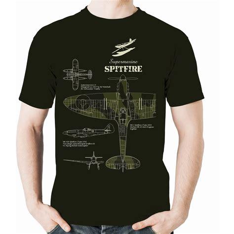 Tshirt Spitfire flying graphics supermarine spitfire t shirt