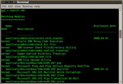 exploit windows xp sp3 using metasploit msfconsole welcome to my blog hacking smb on microsoft windows xp