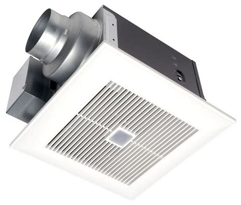 modern bathroom exhaust fan whispersense 110 cfm ceiling humidity and motion sensing