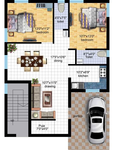 Modern Home House Plans by Tulsi Vatika By Sharma Infra Venture 2 Bhk Villas At