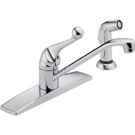 single kitchen faucet delta classic single handle standard kitchen faucet with