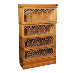 Lawyers Bookshelves Four Section Oak Lawyer S Bookcase With Leaded Glass Doors