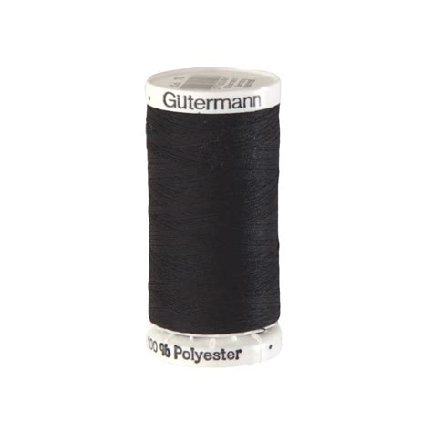 Upholstery Thread by Gutermann Polyester Upholstery Thread 300m 328yds Black