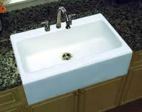 good White Single Bowl Drop In Kitchen Sink #2: farmhouse-kitchen-sink.jpg
