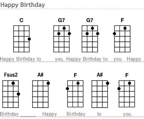 tutorial gitar happy birthday ukulele happy birthday ukulele chords happy birthday
