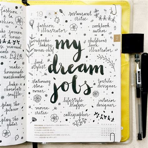 design journal ideas today s journal entry my dream jobs what is your dream