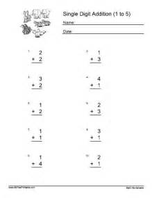 single digit addition worksheets free printable