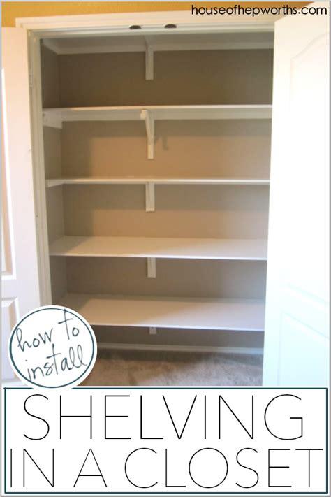 install shelves   closet house  hepworths