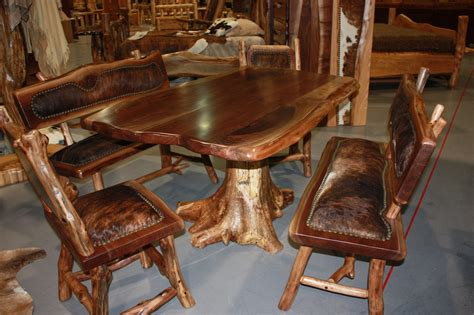log dining room table