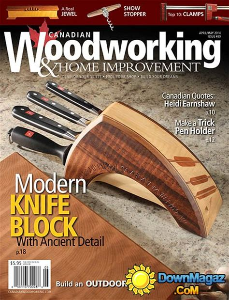 canadian woodworking home improvement  aprilmay