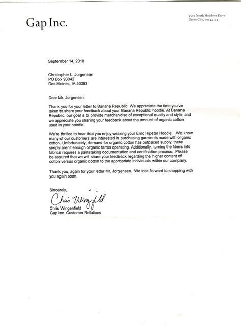 Gap Certificate Letter Letters Dear Banana Republic