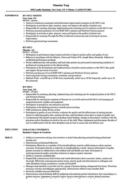 fantastic nicu resume contemporary resume ideas