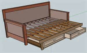 Diy Daybed Frame Plans Pull Out Daybed Plans Home Diy Ideas