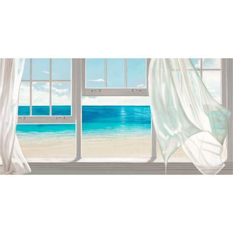 quadro soggiorno moderno benson emerald seascape quadro moderno finestre e tende