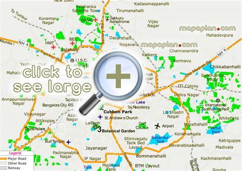 printable local maps bangalore maps top tourist attractions free printable