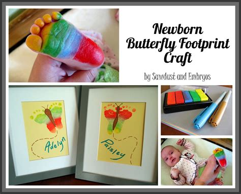 crafts with babies rainbow butterfly footprint artwork crafting with