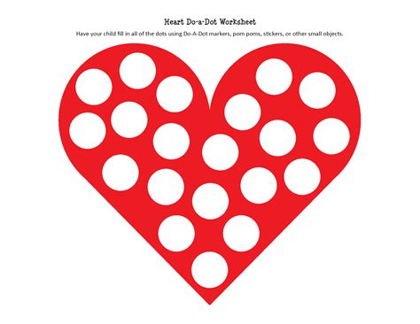 dot pattern heart heart do a dot worksheet gift of curiosity