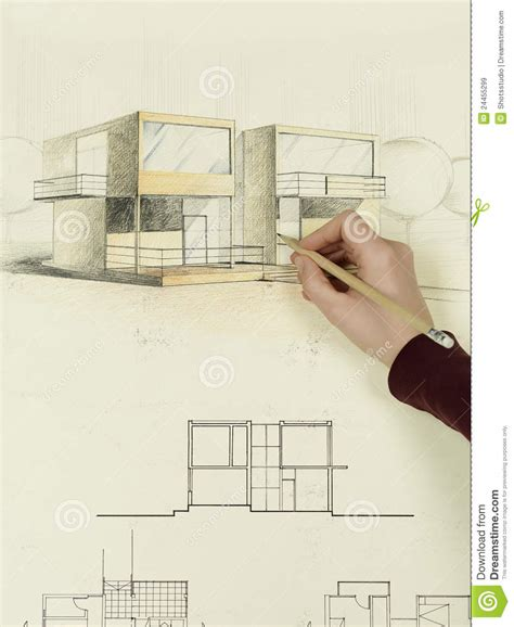 architect online woman s hand drawing architectural sketch of house royalty