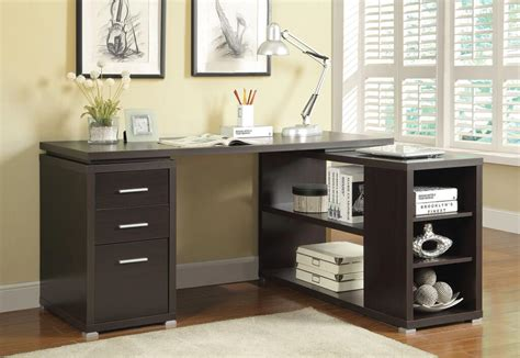 espresso l shaped desk l shaped espresso finish desk