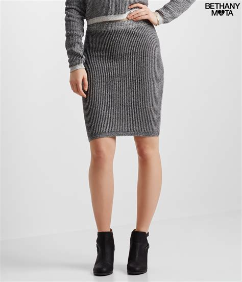 cable knit skirt a 233 ropostale cable knit pencil skirt in gray lyst