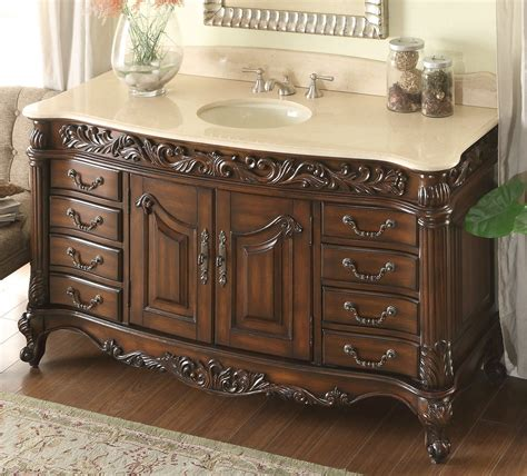 Bathroom Vanities Marble Top adelina 60 inch antique bathroom vanity stunning beveled