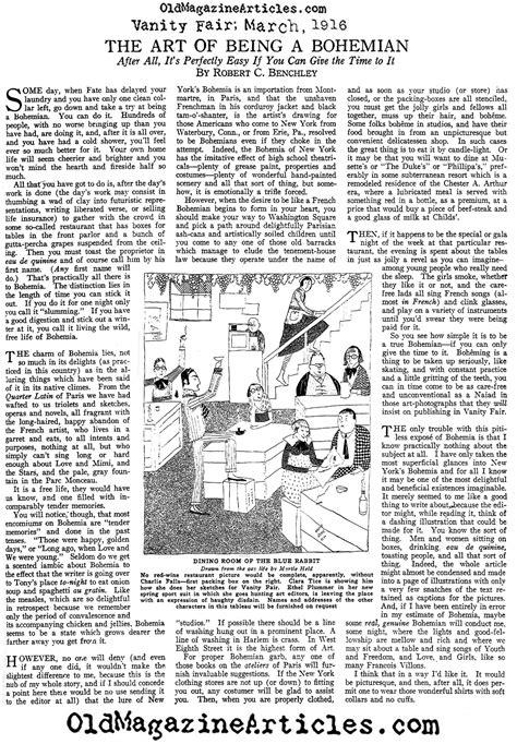 Vanity Fair Articles by 1916 Robert Benchley Vanity Fair Article Magazine