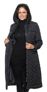womens black quilted coat