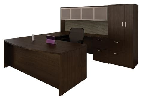 u shaped bow front office suite by cherryman