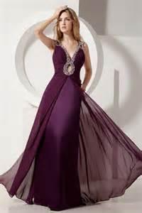 vestidos de noche color uva