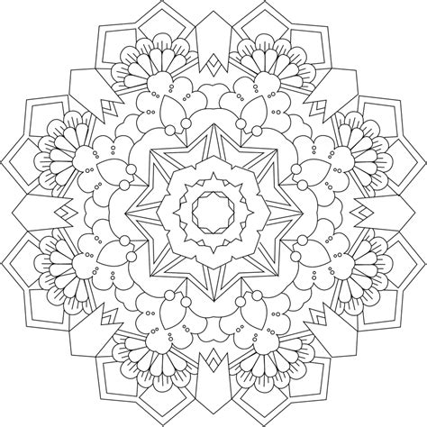 garden mandala coloring pages garden ring coloring page