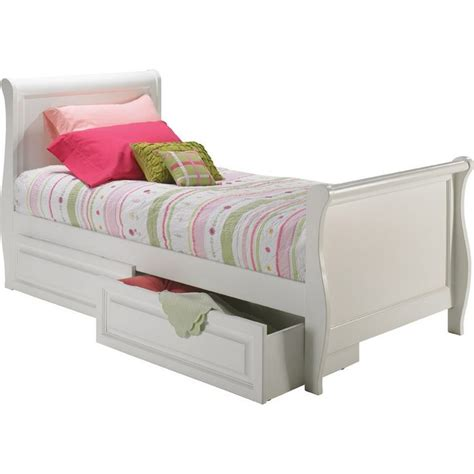 atlantic furniture sleigh twin bed w matching footboard