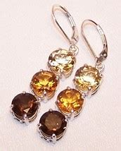 Citrine Quartz 19 00 Cts citrine smoky quartz 11 5 cts sterling silver earrings