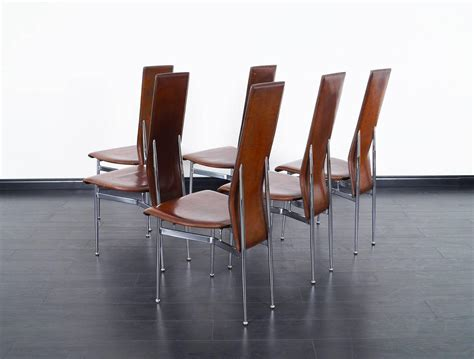 Italian Leather Dining Chairs Modern Italian Leather Dining Chairs For Sale At 1stdibs