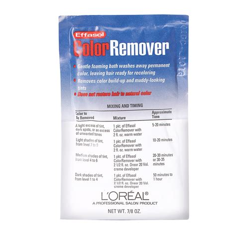 hair color removal l oreal effasol color remover