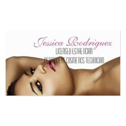 esthetician beauty skin care business card zazzle