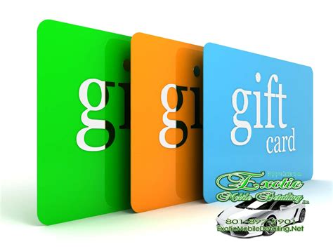 Salt Lake City Gift Cards - gift card exotic mobile detailing salt lake city s best mobile detailing co