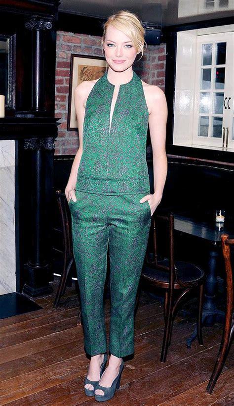 emma stone jumpsuit el jumpsuit verde o los huesitos de emma stone si o no