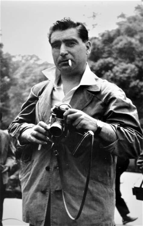 Portrait of war photographer Robert Capa - Tokyo, May 1
