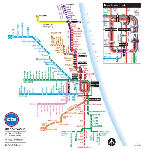 chicago light map the evolution of the chicago cta