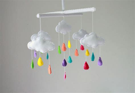 Handmade Crib Mobile - rainbow cloud baby mobile crib mobile by sweetdreamsbabyshop