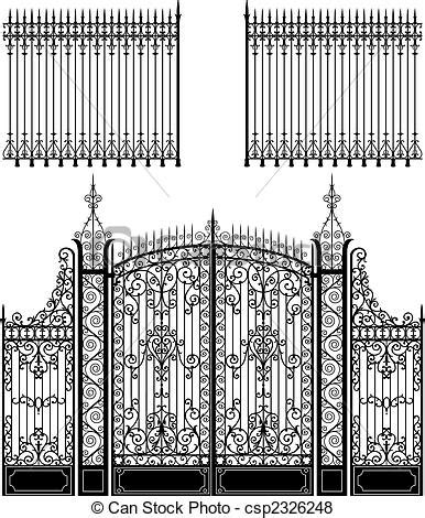 Column Decorations by Vector Of Gate And Fence Wrought Iron Gate And Fences