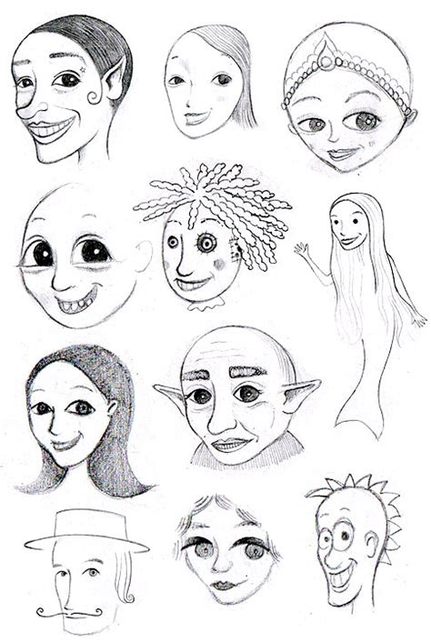 how to draw doodle faces how to draw whimsical faces tips for drawing whimsical