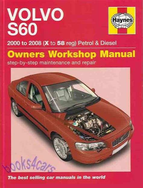 volvo s60 shop manual service repair book haynes owners workshop chilton 01 08